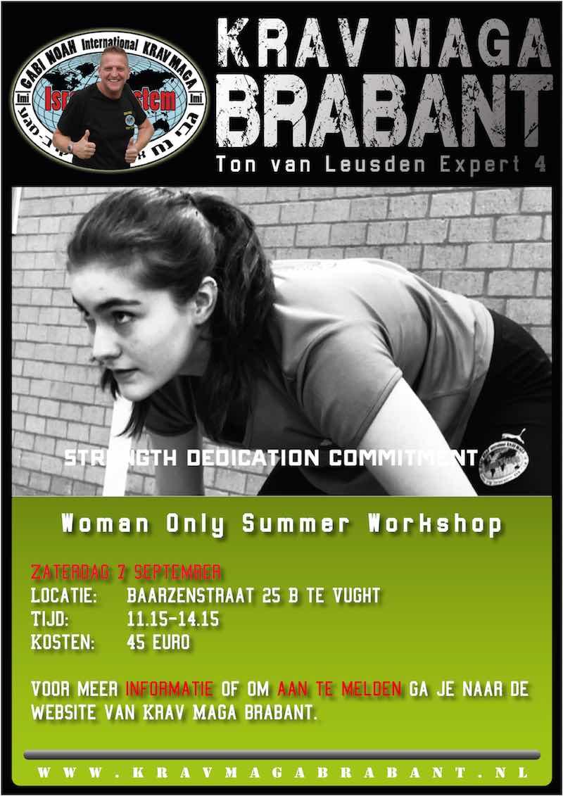 zomer workshop zelfverdediging voor vrouwen krav maga