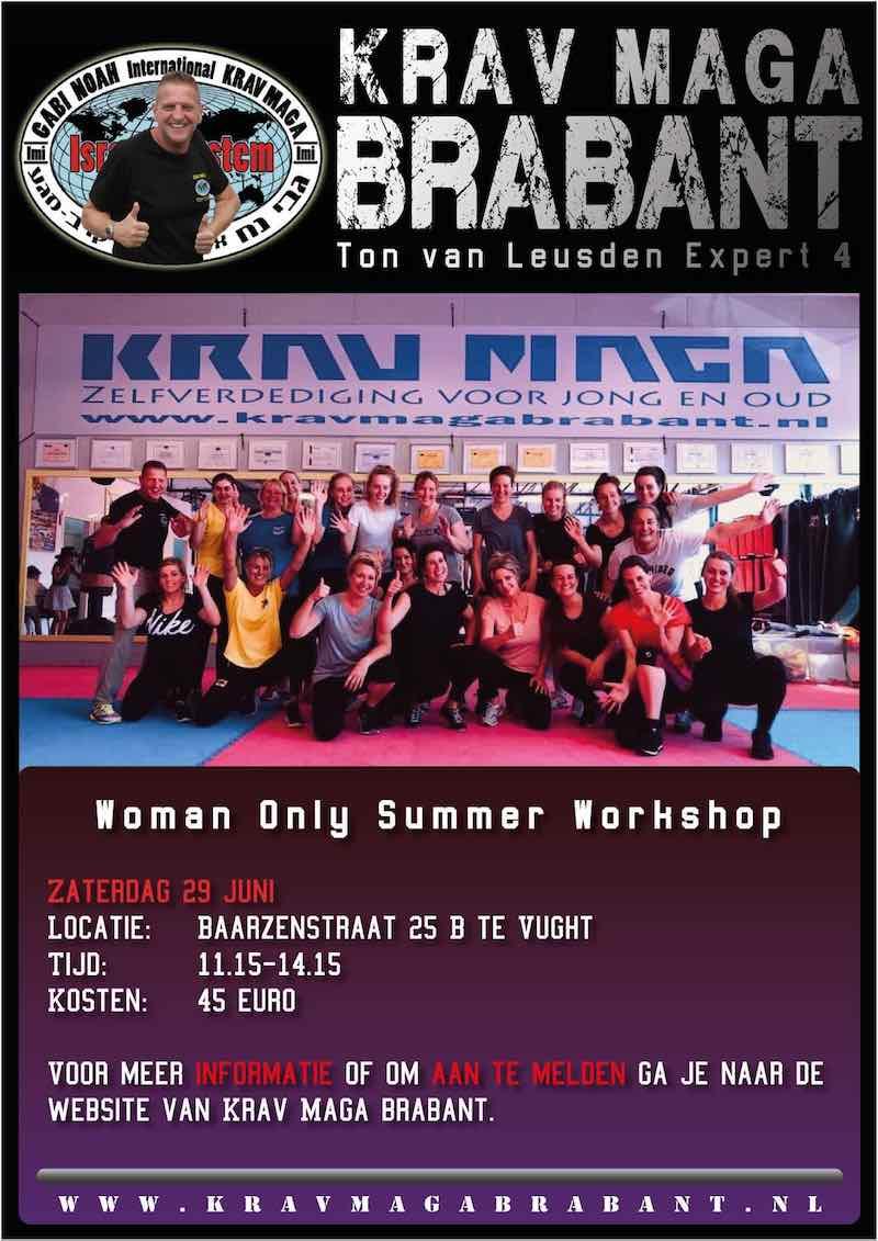 zomer workshop zelfverdediging voor vrouwen